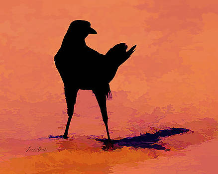 Bird on the Beach by Linda Burek