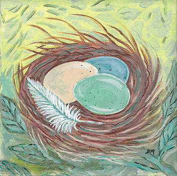 Birds Nest and Feather by Dawn Thibodeaux