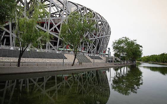 Bird's Nest Olympic Stadium in Beijing by Michalakis Ppalis