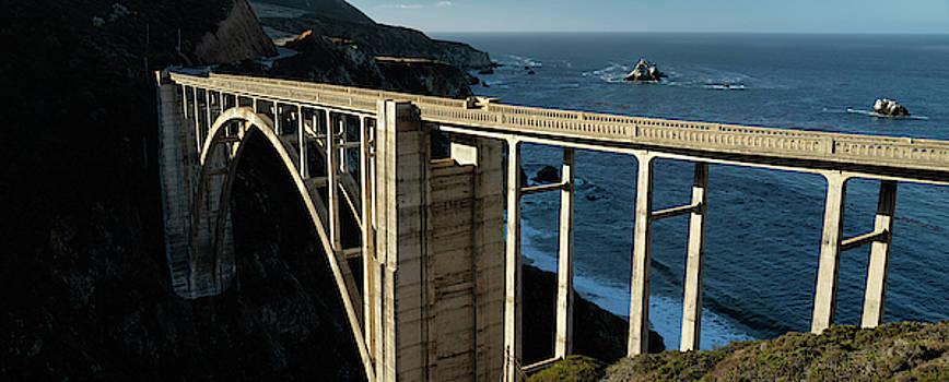 BIxby Bridge California Panorama by Steve Gadomski