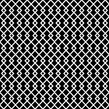 Black and White Diamond Pattern by Ross