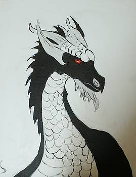 Black and White Dragon by Yvonne Sewell