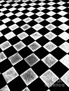 Black and white floor tile by Odon Czintos