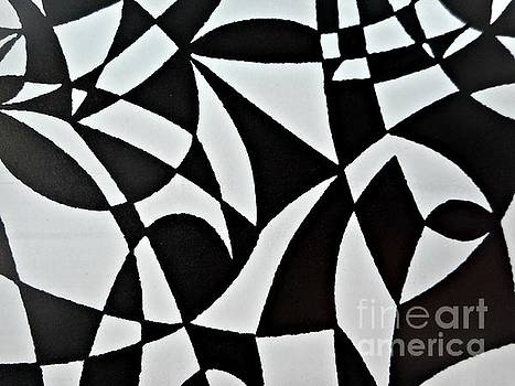 Black and White Pattern-6 by Katerina Stamatelos