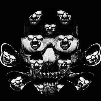 Black and white skull  by Ivanoel Art