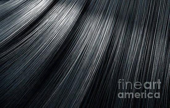 Black Hair Blowing Closeup by Allan Swart