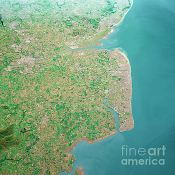 Frank Ramspott - Blackpool UK 3D Render Aerial Landscape View From North Jun 2018