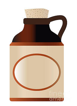 Blank Stone Bottle With Cork And Logo by Bigalbaloo Stock