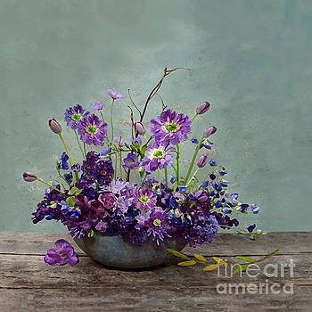 Blossoms From a Purple Garden by J Marielle
