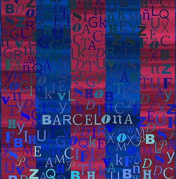 Blue and purple Barcelona by Alberto RuiZ