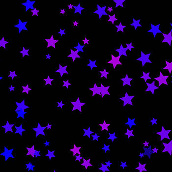 Blue and Purple Stars by Abagail Wells