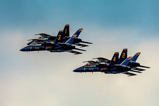 Blue Angels 2 x 2 by Donna Corless