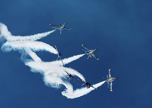 Blue Angels Loop Break Cross by Chris Buff