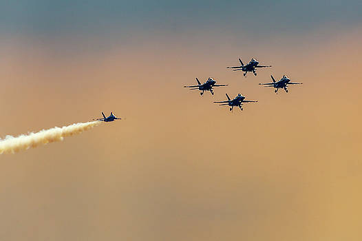 Blue Angels Pass Through by Donna Corless