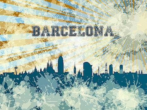 Blue Barcelona skyline by Alberto RuiZ