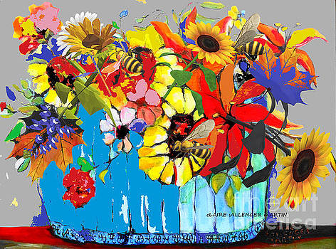 Blue Basket Ii  by Claire Sallenger Martin