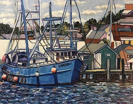 Blue Boat  by Richard Nowak