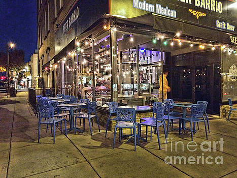 Blue Cafe by Kathy Strauss
