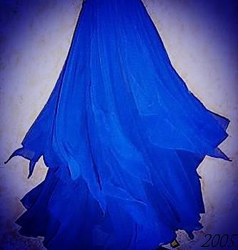 Sofia Metal Queen - Blue chiffon petal skirt. Ameynra 2005