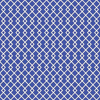 Blue Diamond Pattern by Ross