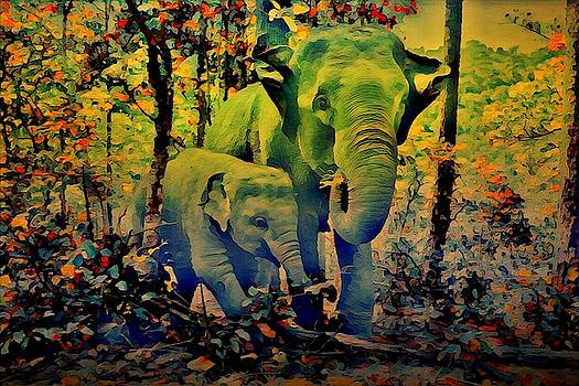 Blue elephant by AE collections