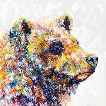 Blue Eyed Bear by Jennifer Morrison Godshalk
