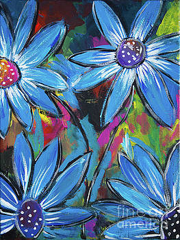 Blue Flowers by Kathy Strauss