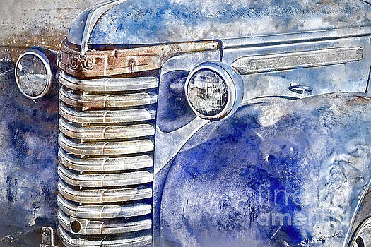 Blue GMC Truck by Brad Allen Fine Art