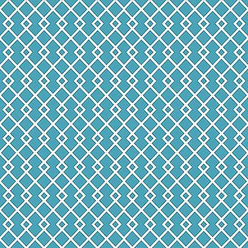 Blue Green Diamond Pattern by Ross