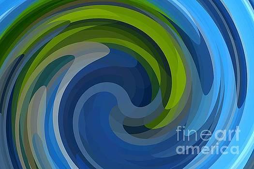 Blue Green Swirl by Susan Rydberg