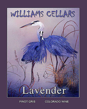 Blue Heron Lavender Wine Label by Williams Cellars