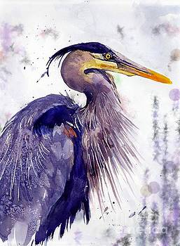Blue Heron by Suzann Sines