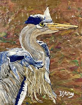 Blue Herron in Amsterdam by Deborah Stanley