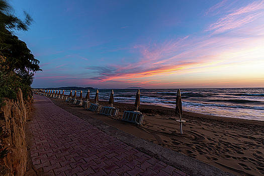 Blue Hour at the beach by Andreas Levi