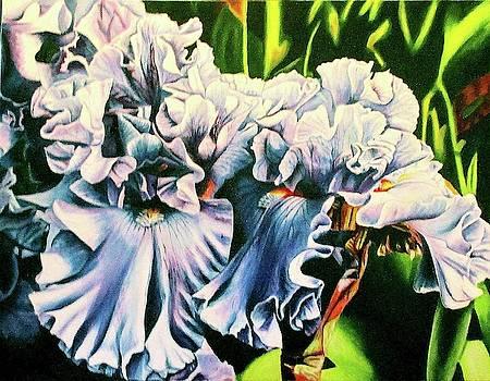 blue Iris by Suzahn King