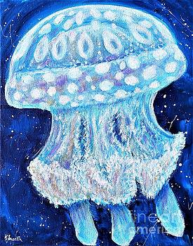Blue Jellyfish Painting by Kirsten Sneath