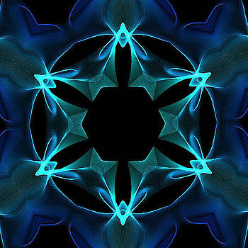 Blue Kaleidoscope by Ronni Dewey