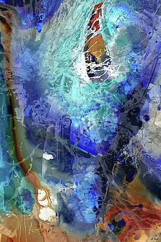 Blue Modern Abstract Art - Desires - Sharon Cummings by Sharon Cummings