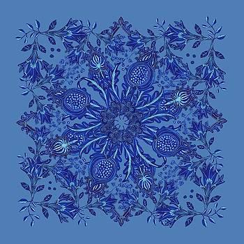 Blue Patterened Floral by Blenda Studio
