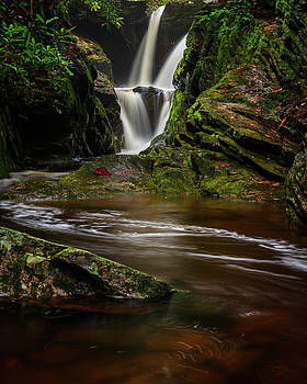 Blue Ridge Mountains Waterfalls - Duggers Creek Falls by Mike Koenig