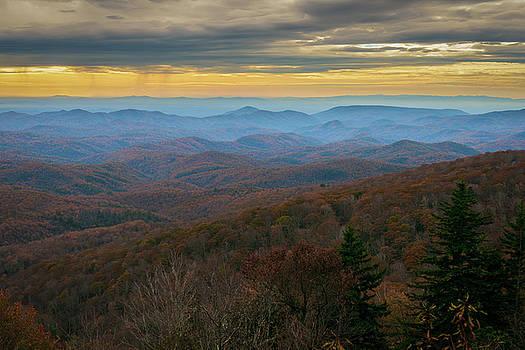 Blue Ridge Parkway - Blue Ridge Mountains - Autumn by Mike Koenig
