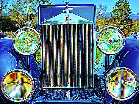 Blue Rolls Royce by Paul Wear