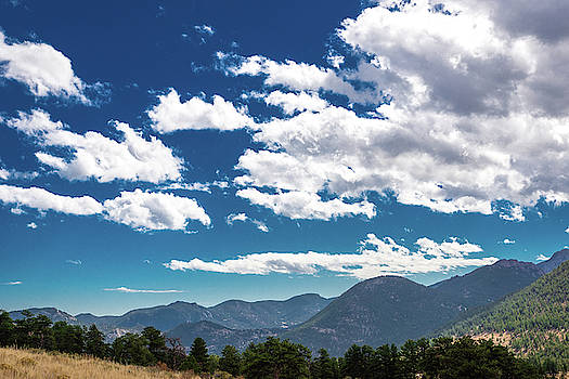 Blue Skies and Mountains II by James L Bartlett