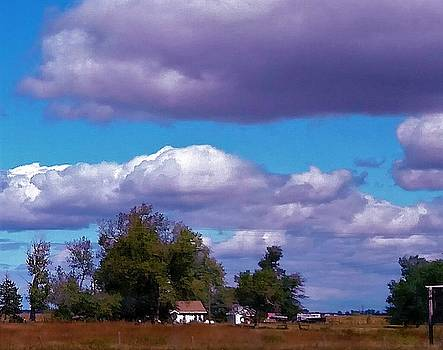 Blue Sky and Country Home by Peggy Leyva Conley