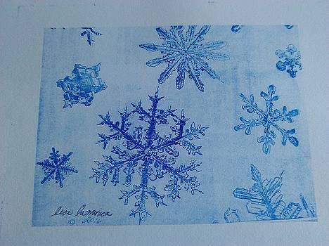 Blue Snowflakes by Lisa LaMonica