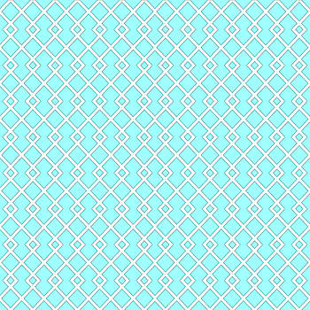 Blue Spring Diamond Pattern by Ross