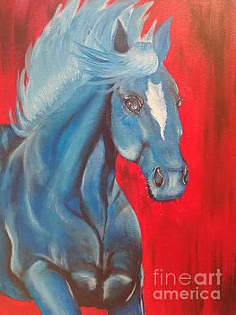 Blue Stallion by Heather James