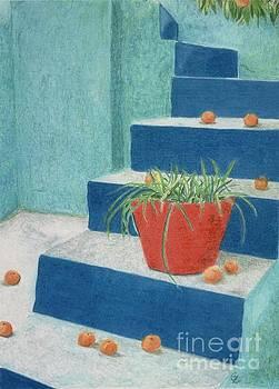 Blue Steps, Morocco by Glenda Zuckerman