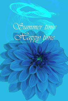 Blue Summer Time Happy Time by Johanna Hurmerinta