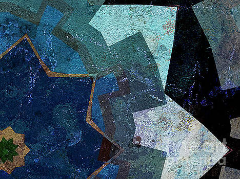 Dee Flouton - Blue Toned Textured Points Abstract